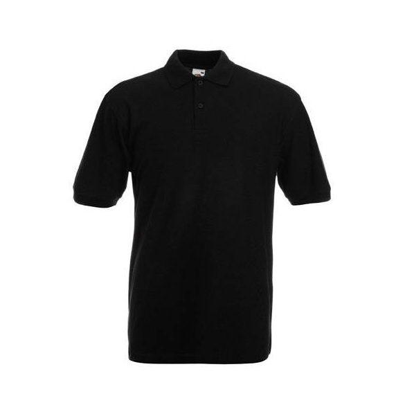 Póló FOL Premium galléros fekete L
