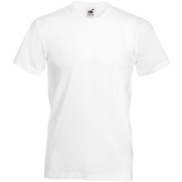Póló FOL Valueweight V neck T fehér M