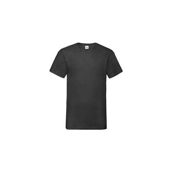 Póló FOL Valueweight V neck T fekete M