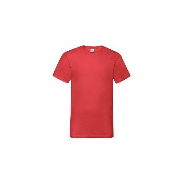 Póló FOL Valueweight V neck T piros