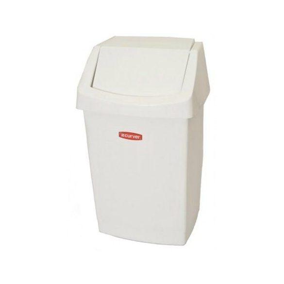 Szemetes 50L műanyag billenős fehér BÁ