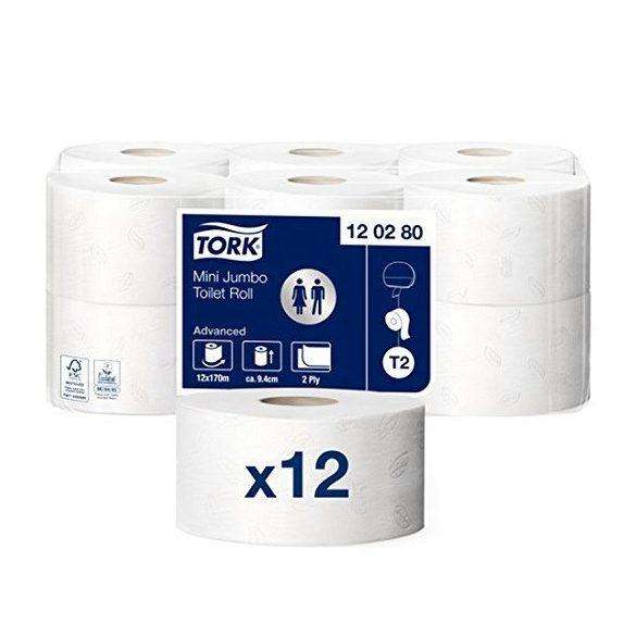 Tork Advanced Mini Jumbo toalettpapír T2 120280