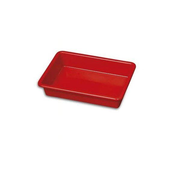 Takarítókocsi tálca 25x38 piros JOOKY