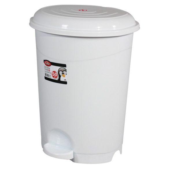 Szemetes 50L műanyag pedálos ECO szürke UP130