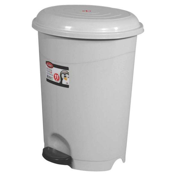 Szemetes 12L műanyag pedálos ECO szürke UP126