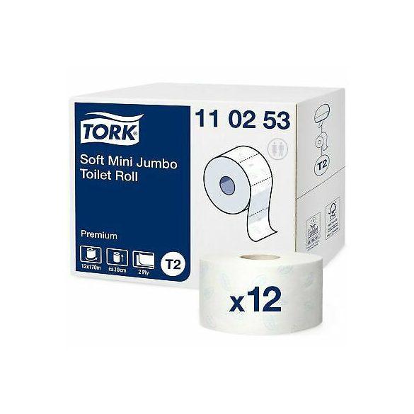 Tork Premium Mini Jumbo toalettpapír T2 110253