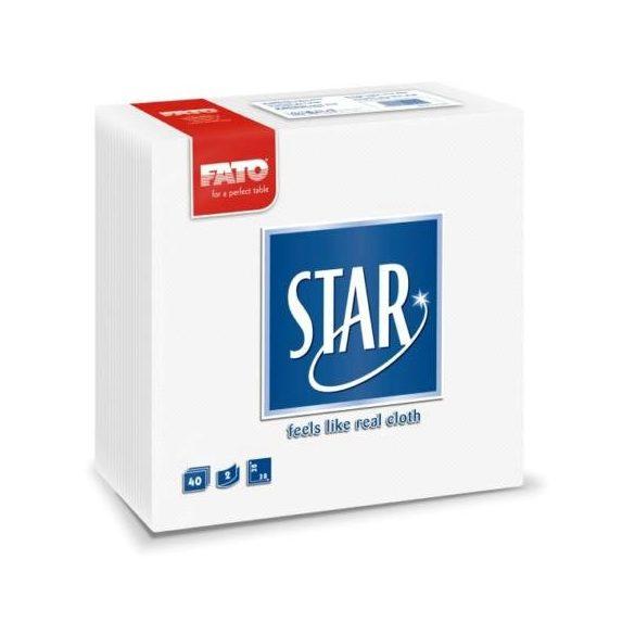 Szalvéta FATO Star 38x38 Fehér 1/4 (30)