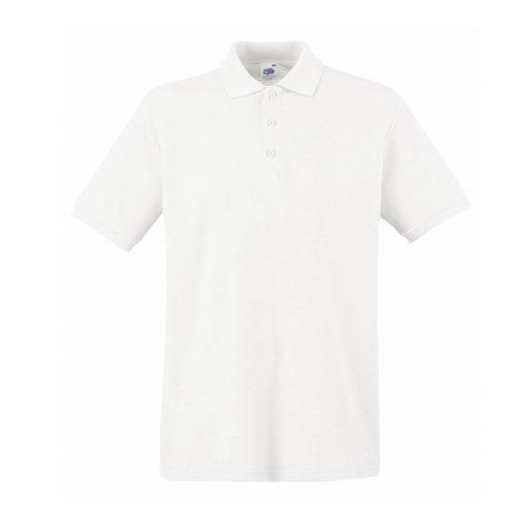 Póló FOL Premium galléros fehér XL