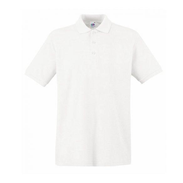 Póló FOL Ringspun Premium környakas fehér 4XL
