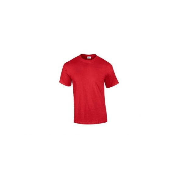 Póló Gildan Heavy cotton piros 4XL