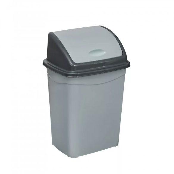 Szemetes 50L műanyag billenőfedeles ECO szürke UP122