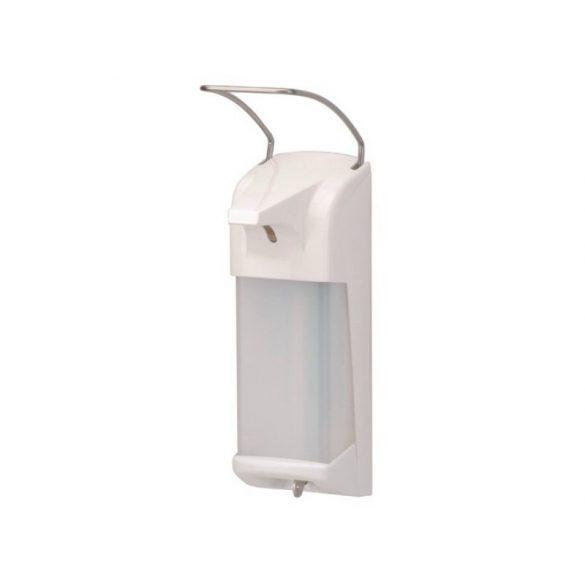 Adagoló kézfertőtlenítő műanyag fehér, fém karos 1000ml D11