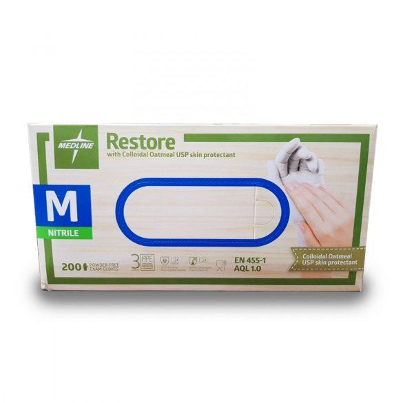 Kesztyű nitril Púdermentes Medline 8(M) 200db/doboz