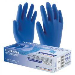 Kesztyű gumikesztyű nitril púdermentes kék 9 (L) Blueracer